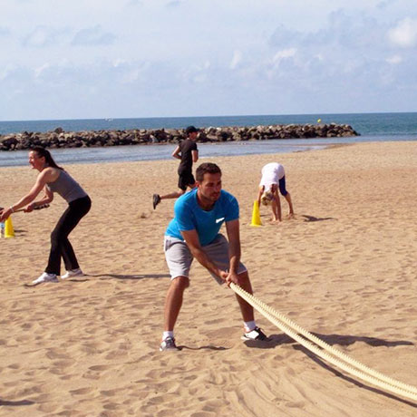 session Bootcamp plage